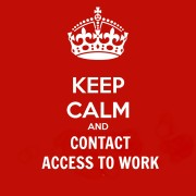 keep calm and contact access to work